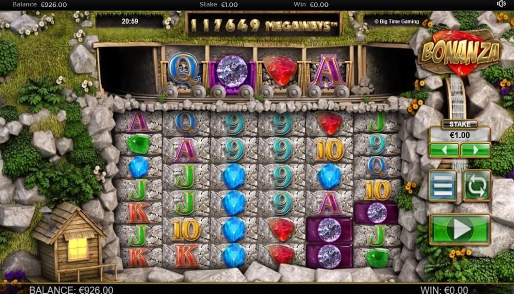 BONANZA MEGAWAYS™ 117,649 WAYS TO WIN SET UP