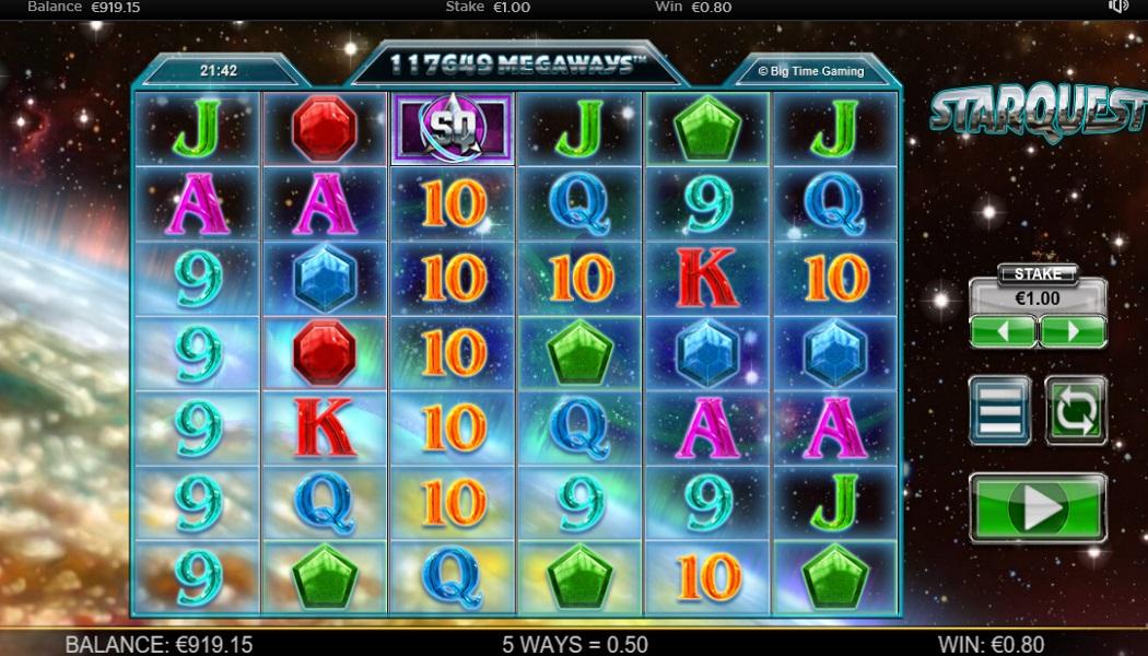 STARQUEST MEGAWAYS™ 117,649 WAYS TO WIN SET UP