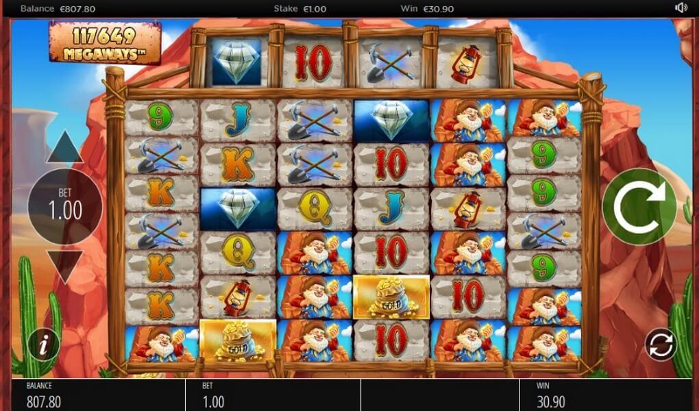 DIAMOND MINE MEGAWAYS™ 117,649 WAYS TO WIN SET UP