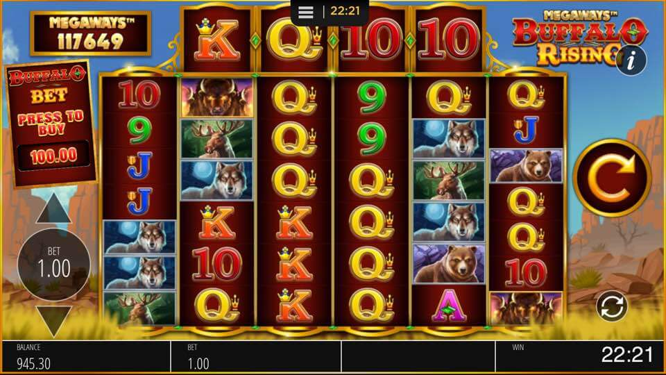 BUFFALO RISING MEGAWAYS™ 117,649 WAYS TO WIN SET UP