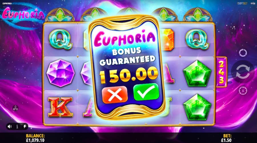 BUY THE BONUS ON EUPHORIA SLOT FOR 100X YOUR STAKE