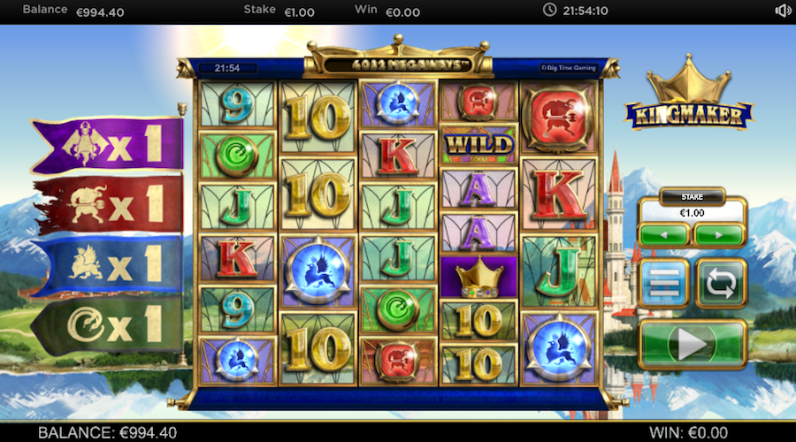 5 OF A KIND BLUE GEM WIN ON KINGMAKER MEGAWAYS™ SLOT