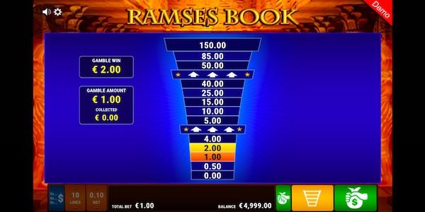 GAMBLE LADDER ON RAMSES BOOK SLOT