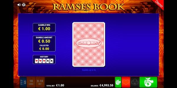 CARD GAMBLE ON RAMSES BOOK SLOT